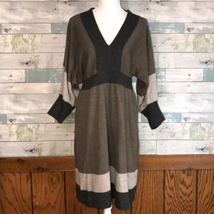 Coldwater Creek fall sweater dress L      0217